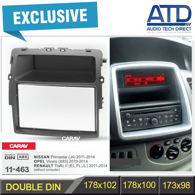 178mm Double 2 DIN Navi Panel Fascia 11-463 For Renault Trafic X83 (2011-2014)
