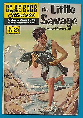Classics Illustrated Comic Book 1970 The Little Savage # 137.   #720