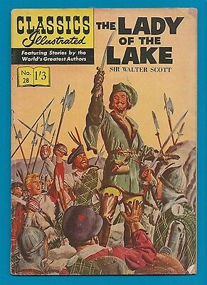 Classics Illustrated Comic Book The Lady of the Lake by Sir Walter Scott #750