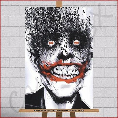 The Joker Framed Canvas Print Picture Wall Art Batman Marvel DC Comic Book Movie