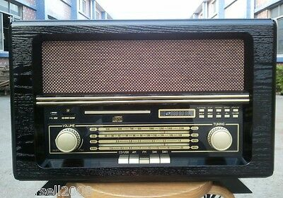 Wave Band Fashionable Classical Wooden L 51*W 29*H 24CM Brown Desktop Radio
