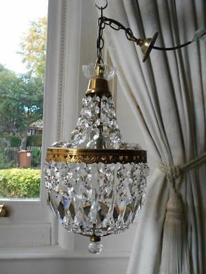 Vintage French Chic Tent & Bag Crystal Chandelier