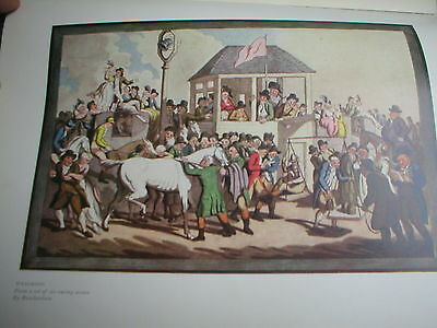 Antique Racing Scene of Weighing In by Thomas Rowlandson
