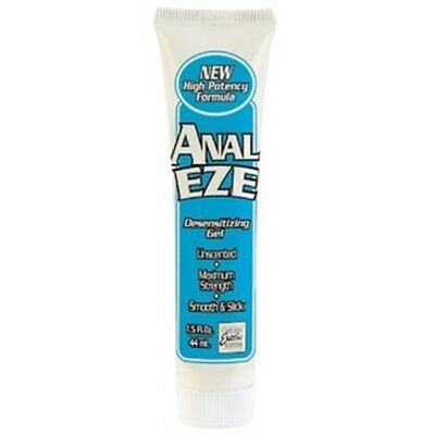 Anal Eze High Strength Numbing Gel Lubricant Desensitising 44ml Tube DISCREET