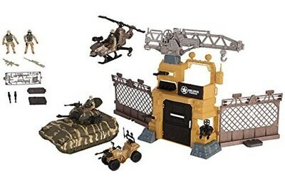 Kids Military Play Set, Military Tank and Camp Playset