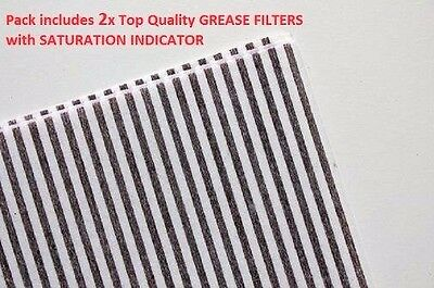 Universal Cooker Hood Grease Filters 2 Pack - Red-Stripe 47x57cm Cut to Fit All