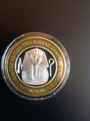 LUXOR LIMITED EDITION 10 DOLLAR GAMING TOKEN LAS VEGAS, NV. Two Available