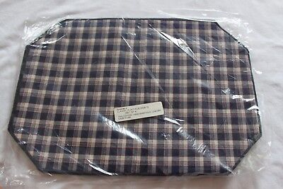 Longaberger Set Of 4 Fabric Placemats JW Collection CLASSIC Plaid NEW