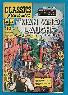 Classics Illustrated Comic Book The Man who Laughs by Victor Hugo  #464