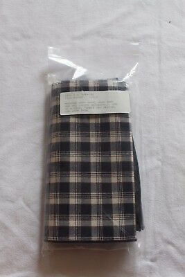 Longaberger  JW Collection PLAID  NAPKINS Set Of 4  NEW