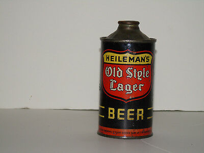EMPTY Heilemans Old Style Lager irtp low pro cone top