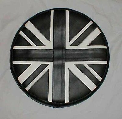 Black and White Union Jack Scooter Wheel Cover
