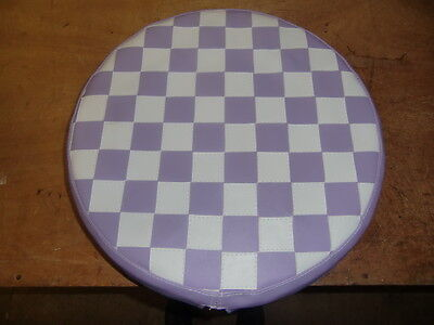 Lilac/ White Check Scooter Wheel Cover
