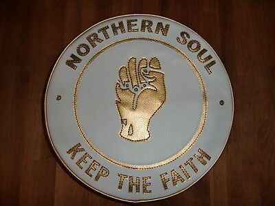 White Gold Northern Soul Scooter Wheel Cover