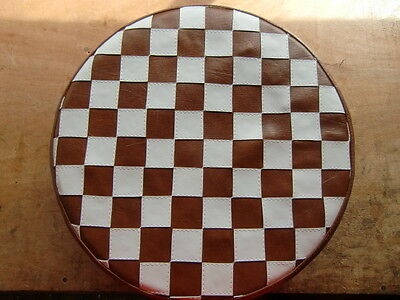Brown/ White Check Scooter Wheel Cover