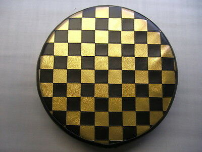 Black & Gold Check Scooter Wheel Cover