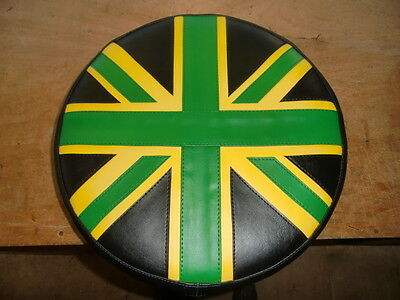Green, Black & Yellow Union Jack Scooter Wheel Cover