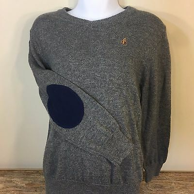 Baby Gap Long Sleeve Boys Sweater Gray Elbow Patch Cotton Soft Size 5 Years EUC