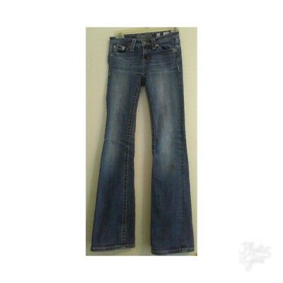 Girls MISS ME Boot Cut Blue Embellished  Jeans Size 14