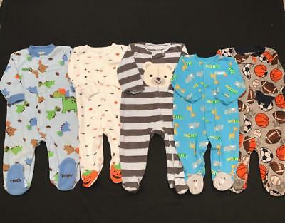 BABY BOY 6 months 6-9 months ALL CARTER'S footie SLEEPER PAJAMAS Clothes Lot
