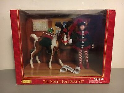 Brand New Breyer The North Pole Play Set 2006 Holiday Doll, Horse & Accessories