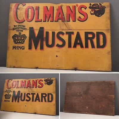 COLMANS Mustard Sign Hand painted C1940s Advertisement.