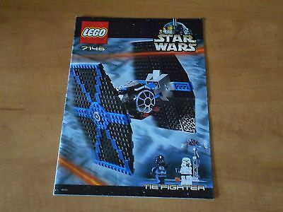 LEGO Star Wars Tie Fighter (with gantry) Instructions Only 7146 2001 Near Mint
