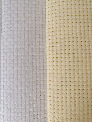Binca / Aida 6 Count Cross Stitch White Cream Various Sizes Cotton