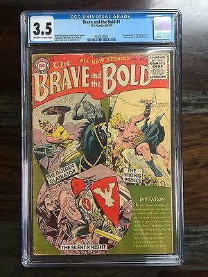 Brave and the Bold #1 - CGC 3.5 - 1st App of Viking Prince (1955) *GOLDEN AGE*
