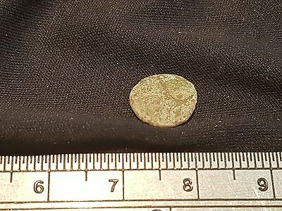 Worn Roman bronze minim coin found in Jerusalem 1957  L15x