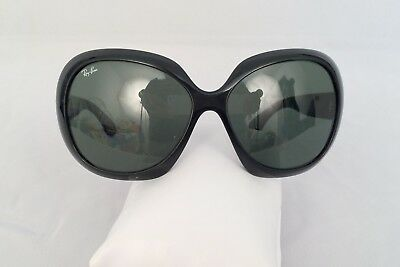 RAY BAN Jackie Ohh RB4098 Blk Frame Grey Gradient Lens BUTTERFLY Sunglasses READ