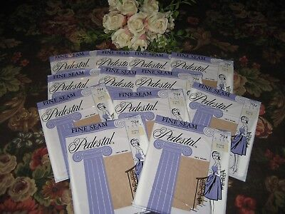 Vintage New Seamed Nylon Stockings  Size 11 Dreamblush  60 Gauge 12 Pair In Lot