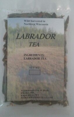 Labrador Tea, Wild, Organic, Sleepytime, fresh 2017, 1oz