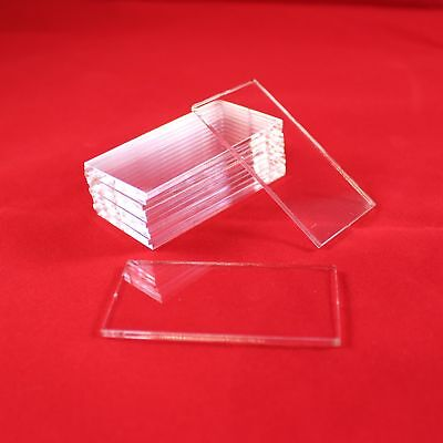 RECTANGLE TRANSPARENT / CLEAR BASES for Roleplay Miniatures (160mm x 80mm)