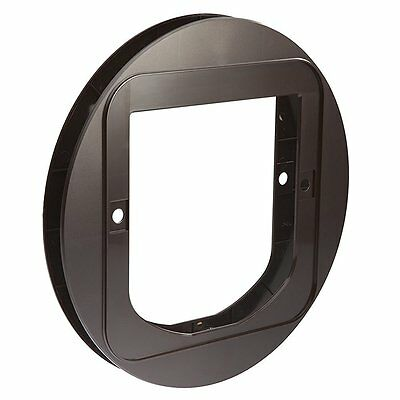 Mounting Flap Adaptor Extended Pet Door For Sureflap & Dualscan Cat Flap Brown