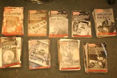 Lot of 1950's QST magazine Vintage HAM Radio Amateur Radio Tube 48 total