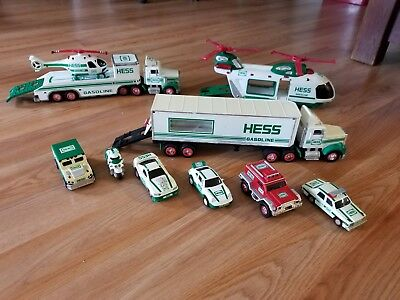 Hess Trucks Cars Helicopter Motorcycle lot. For parts?