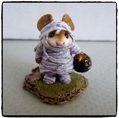 Wee Forest Folk The Mummy - NEW in Bag - (purple wrap) M-194