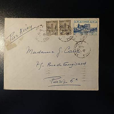 Tunisia Letter Cover 1935 Ferryville For Paris