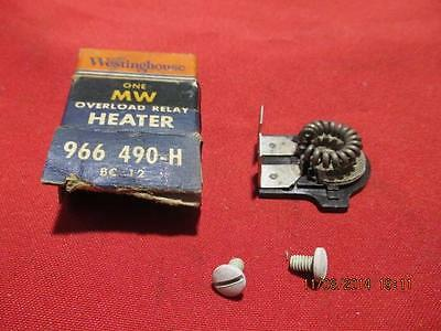 Westinghouse MW Overload Relay Heater BC 12 966 490-H
