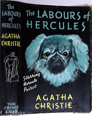 1947 The Labours Of Hercules, Signed Agatha Christie, Murder Mystery Classic