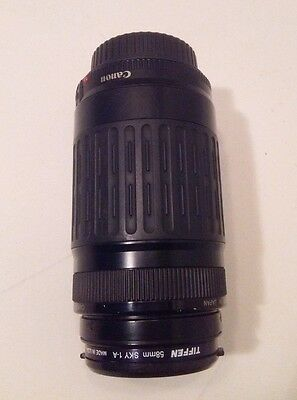 Canon * Zoom Lens * EF 75-300mm 1:4-5.6 * TIffen 55mm SKY 1-A * Made in Japan *