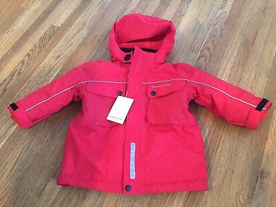 POLARN O. PYRET Winter Jacket -Red, removable fleece lining. 1.5-2 years size 92