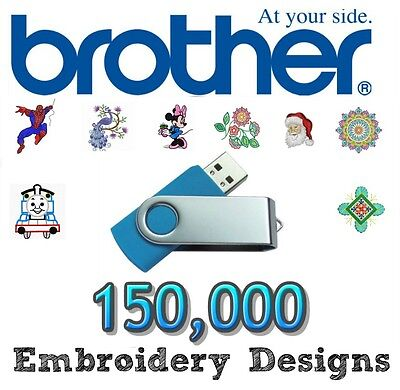 Brother Babylock Machine 150,000 Embroidery Designs Pes Files  Usb Stick