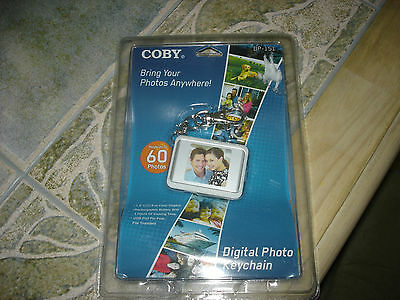 """Coby Dp151Wht 1.5"""" Digital Photo Keychains (White)"""