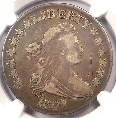 1807 Draped Bust Half Dollar 50C O-105 - NGC VF Details - Rare Certified Coin!