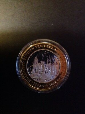 New York New York Casino .999 Fine Silver Limited Edition Gaming Token