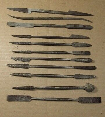 11 Rifflers CASELLI + A.M.SWISS, Die Makers, Silversmiths, Jewelers Files,