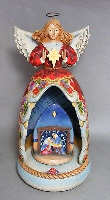 Jim Shore The Child of Mary Christmas Angel Music Box Plays Away in a Manger