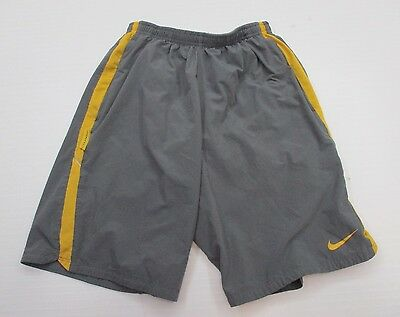 NIKE #SH6532 Men's Size S Athletic DRI-FIT RUNNING LIVESTRONG Lined Gray Shorts